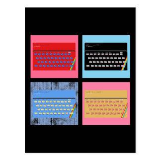 Pop Art ZX Spectrum Postcard