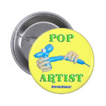 Pop Artist Balloon Dog Pinback Button