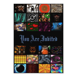 Pop Arts In Multi Colors 13 Cm X 18 Cm Invitation Card