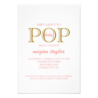 Pop Baby Shower Invite whitepibr