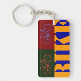 pop bike item Single-Sided rectangular acrylic keychain