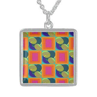 Pop Bits Square Pendant Necklace