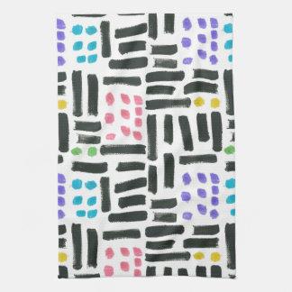 Pop Brushstrokes Tea Towel