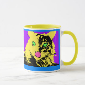 pop cat art mug