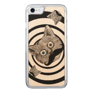pop cats with moustache carved iPhone 8/7 case