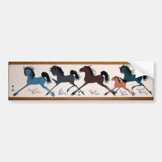 Pop Chalee Horse Mural Bumper Sticker