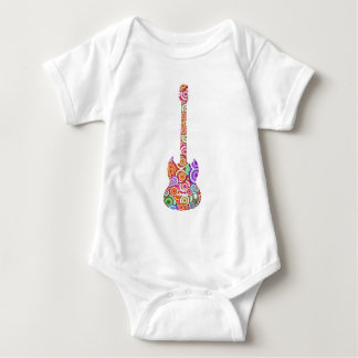 Pop Circles Guitar Logo Baby Bodysuit