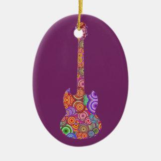 Pop Circles Guitar Logo Christmas Ornament