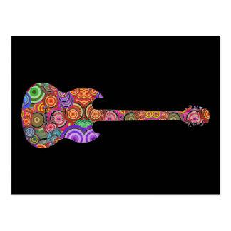 Pop Circles Guitar Logo Postcard