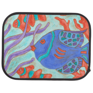 Pop-Colored Fish Car Mat