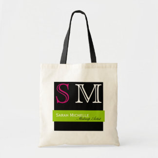 Pop Colors in Pink Green and Black Canvas Bags