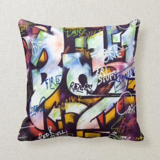 Pop Culture Graffiti Urban Street Art Cushion
