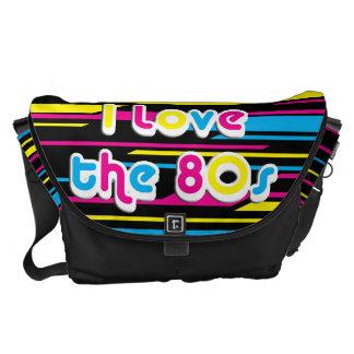 Pop Culture Retro I love the 80s Messenger Bag