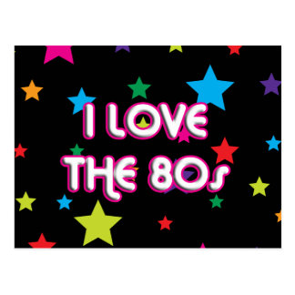 Pop Culture Retro I love the 80s Postcard
