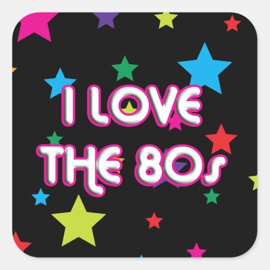 Pop Culture Retro I love the 80s Square