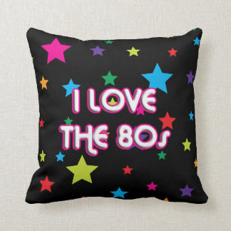 Pop Culture Retro I love the 80s Throw Cushions