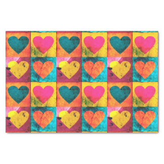 Pop Distressed Heart Tissue Paper