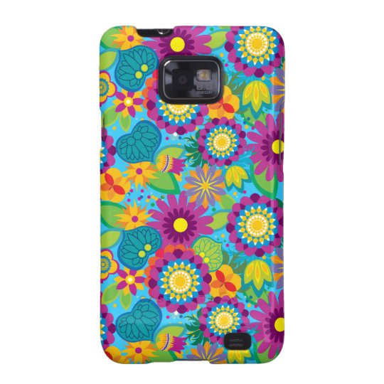 Pop Electric Blossoms Samsung Galaxy S2 Covers