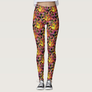 Pop Fashion Celestial Sun Pattern Leggings