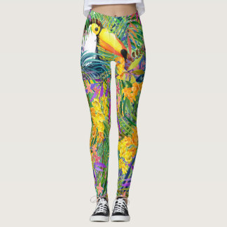 Pop Fashion Tropical Toucan Leggings