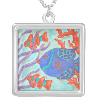 Pop Fish Silver Plated Necklace