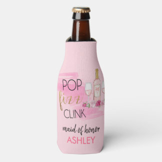POP. FIZZ. CLINK. Bachelorette Party Bottle Cooler