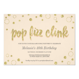 Pop Fizz Clink Champagne Bubbles | Party Invites