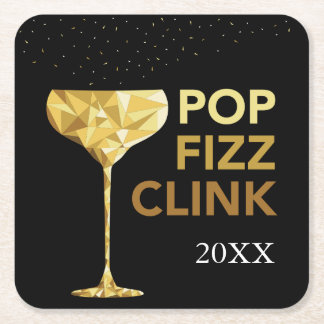 Pop Fizz Clink Champagne Coasters