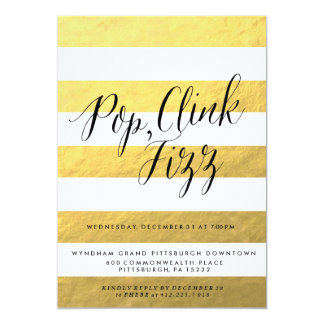 POP FIZZ CLINK Holiday Party Invitation