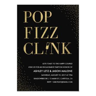 Pop Fizz Clink Wedding Engagement Invitation