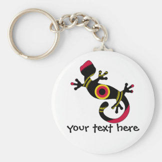 pop gecko blk basic round button key ring