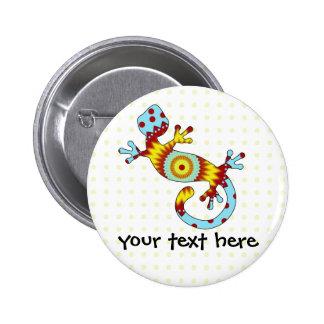 pop gecko sunburst 6 cm round badge
