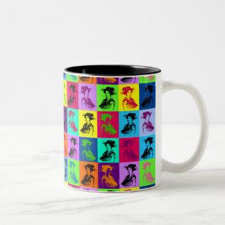 Pop Geishas Two-Tone Mug