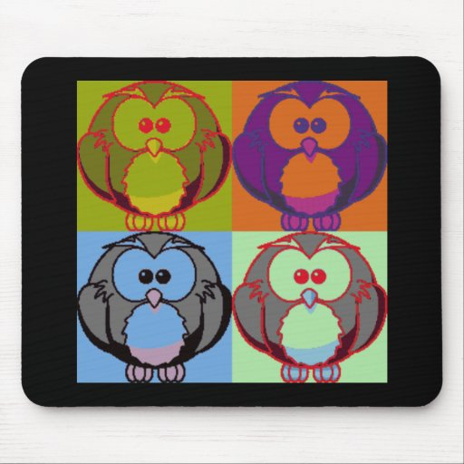 Pop Goes the Owl Mousepad