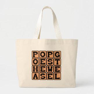 Pop Goes The Weasel, Nursery Rhyme Tote Bags
