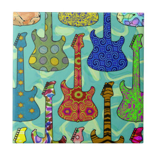 POP GUITARS SMALL SQUARE TILE