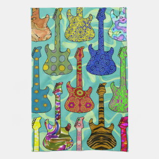 POP GUITARS TEA TOWEL