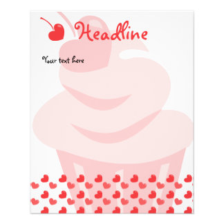 Pop Heart Cupcake 11.5 Cm X 14 Cm Flyer