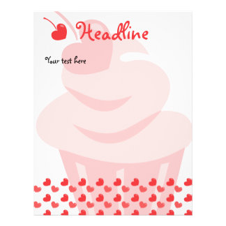 Pop Heart Cupcake 21.5 Cm X 28 Cm Flyer