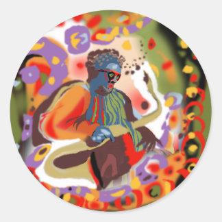 **Pop Jazz MAn** Classic Round Sticker