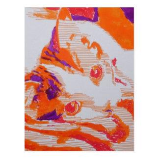 Pop kind cat postcard