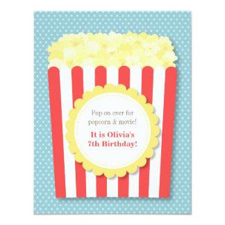 Pop Over Popcorn Movie Night Birthday Party 11 Cm X 14 Cm Invitation Card