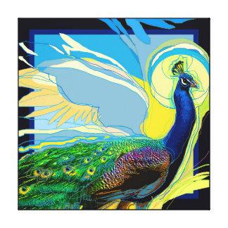 Pop-Peacock Canvas Print