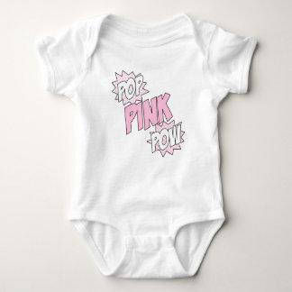 Pop Pink Pow - Baby Jersey Bodysuit (White)
