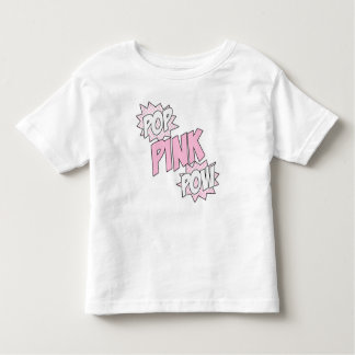 Pop Pink Pow - Toddler Fine Jersey T-Shirt (White)
