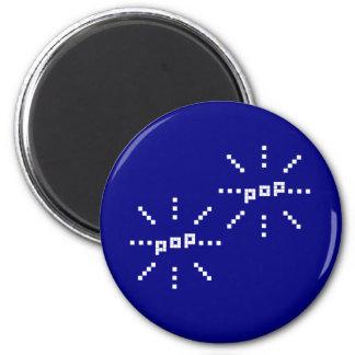 Pop Pop 8-bit Pixel Bubble 6 Cm Round Magnet