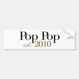 Pop Pop Est 2010 Bumper Sticker