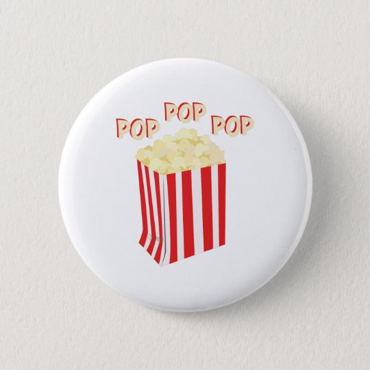 Pop Popcorn 6 Cm Round Badge