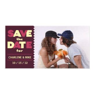 Pop Scene (Cherry/Cream) Save the Date Photo Personalized Photo Card