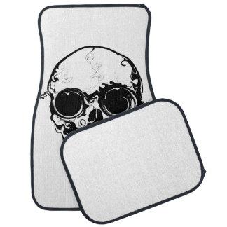 pop skull car mat